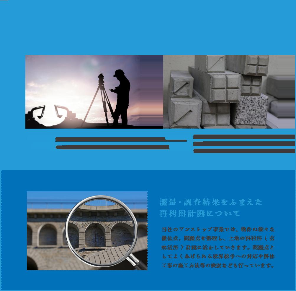 解体作業と同時に実施できる効率の良い測量・調査事例